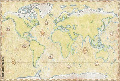mapa-swiata-na-pergaminie