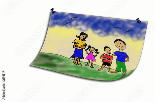 Fotografie, Obraz  happy ideal family