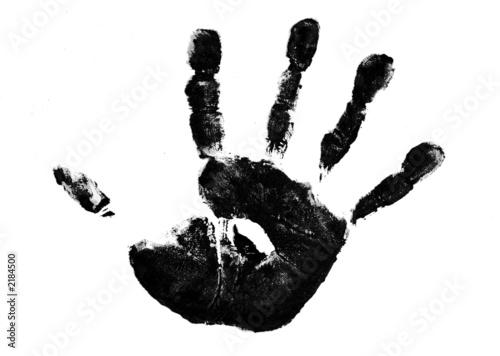 Fototapeta painted handprint