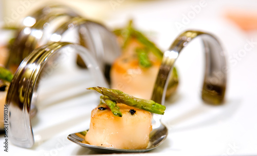 Poster Appetizer winter truffle larded diver scallop