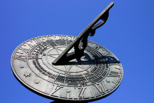 Sundial Against Blue Sky