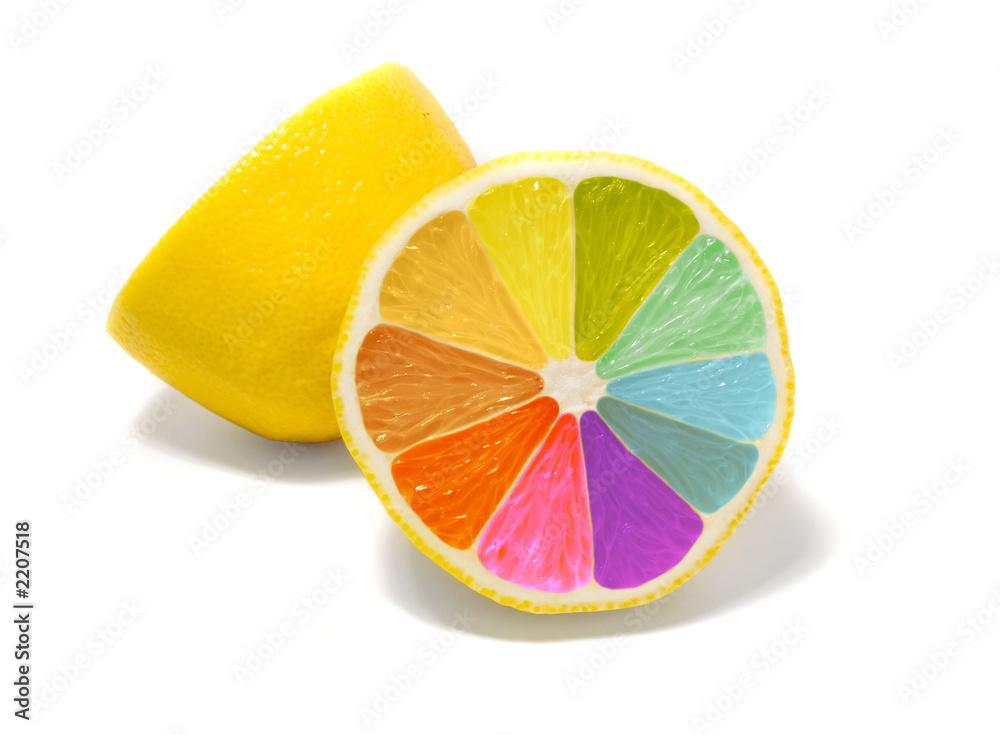 Fototapety, obrazy: coloured lemon
