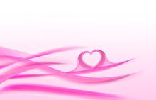 Decorative Valentines Day Wave Heart Background