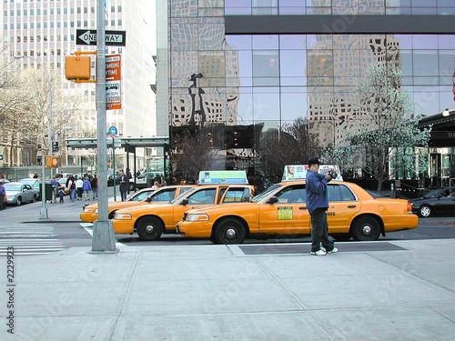 Staande foto New York TAXI hep taxis !