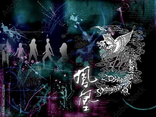 abstract photomontage artwork -- phoenix