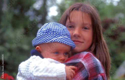 Fotografie, Obraz  enfant et adolescente