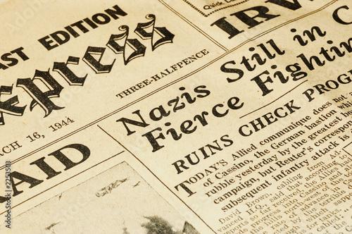 Fotobehang Kranten wartime newspaper