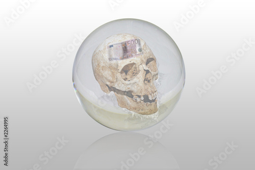 bola de cristal con la muerte Canvas Print