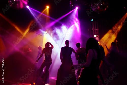 Stampa su Tela tanzende menschen in einer disco