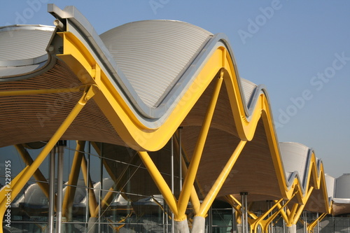 Aluminium Prints Airport madrid airport