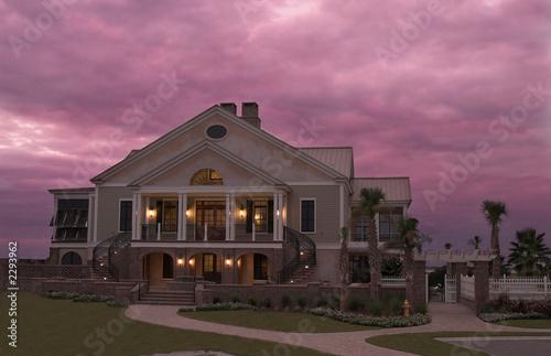 Fotografie, Tablou  mansion at twilight