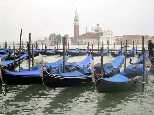 Spoed Foto op Canvas gondolas