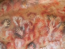 """""""cave Of The Hands"""" Rock Paintings"""