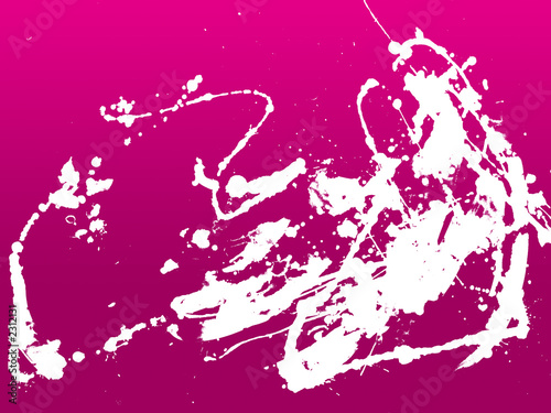 Deurstickers Roze abstract zen ink painting graphic