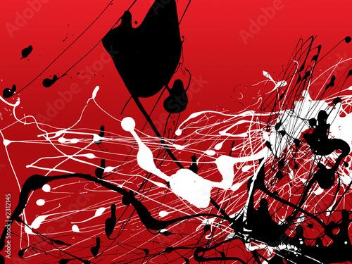 Naklejki abstrakcyjne abstrakcyjna-grafika-malowania-tuszem-zen