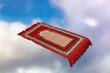 canvas print picture - magic carpet in the clouds
