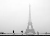 Fototapeta Fototapety Paryż - paris tour eiffel sous la neige