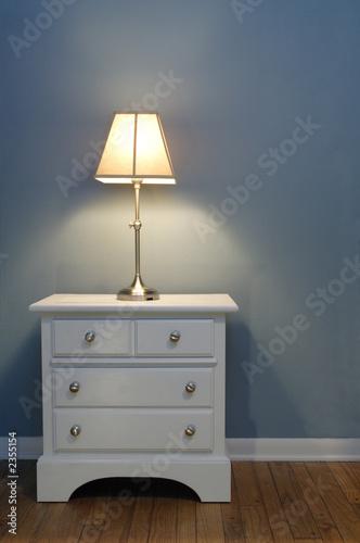 Fotografie, Obraz  lamp and nightstand