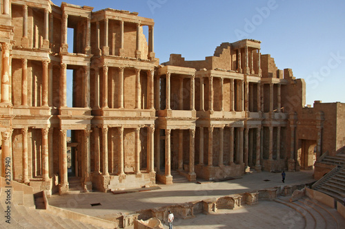 theatre antique de sabratha en libye