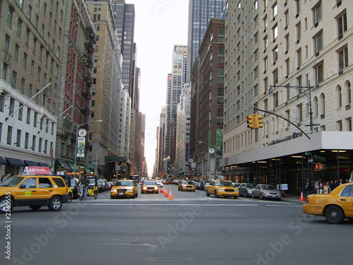 Staande foto New York TAXI new york 6th avenue