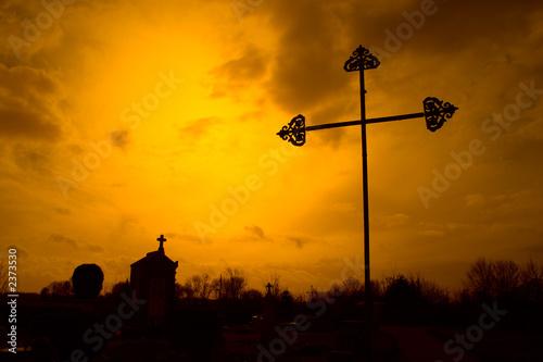 Fotografie, Tablou croix et tombes
