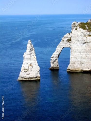 Foto-Kissen - cliffs of etrat, normandie france