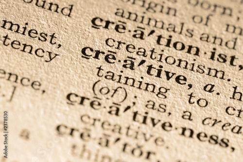 Fotografie, Obraz  the word creative