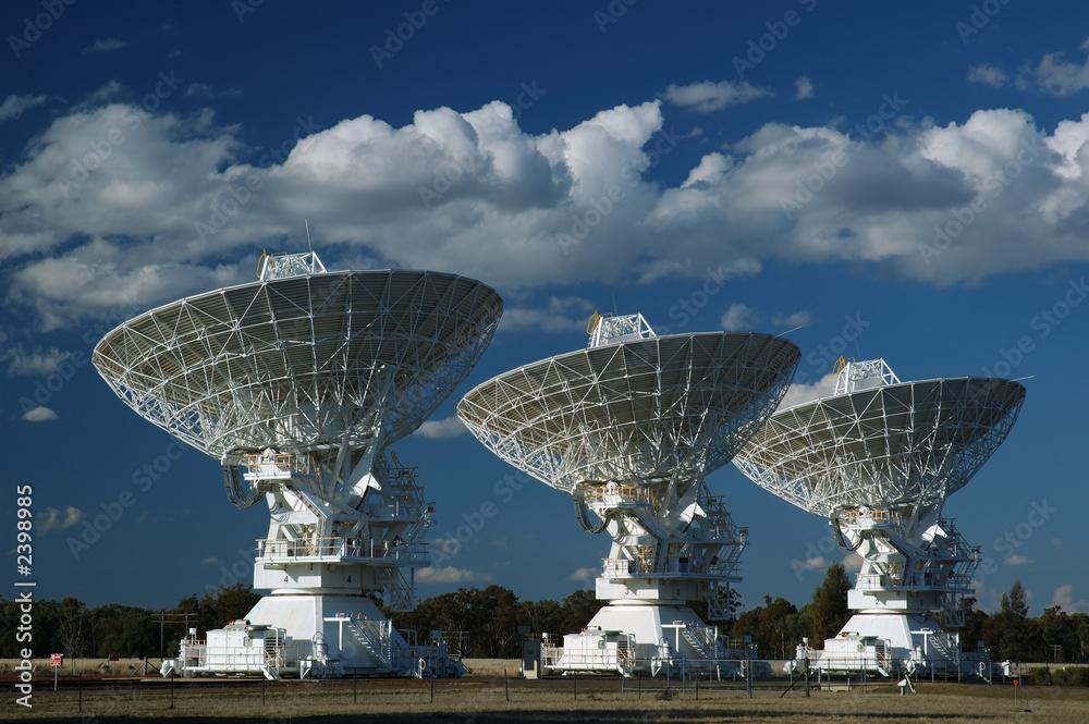 einzelne bedruckte Lamellen - radio antenna dishes