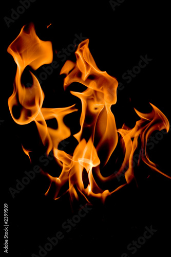Stickers pour porte Feu, Flamme flamme éclatante