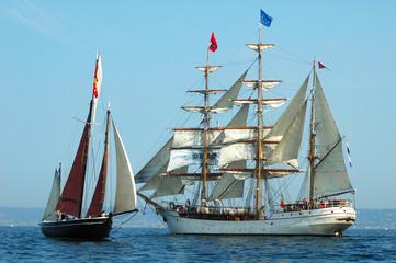 Fototapeta Żagle voiliers bord à bord