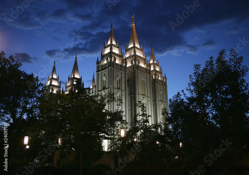 Spoed Foto op Canvas Temple salt lake temple1