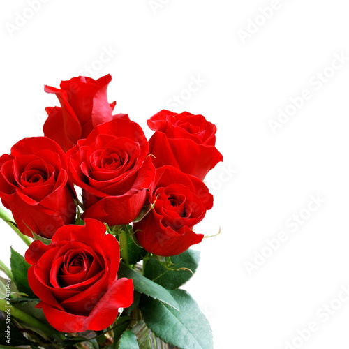 red rose bouquet Poster