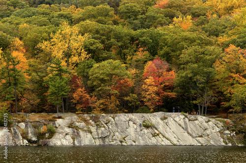 Valokuvatapetti fall colors at hessian lake