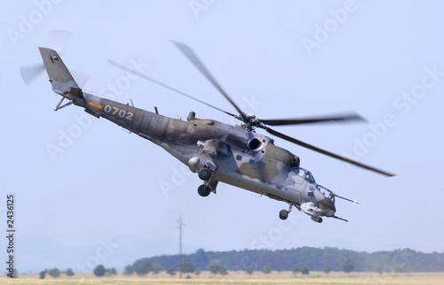 Türaufkleber Hubschrauber mil mi-24 hind