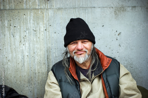Obraz na plátně homeless man