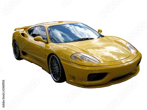 einzelne bedruckte Lamellen - yellow supercar (von Christopher Nolan)
