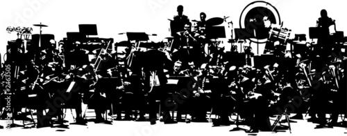 the big orchestra Wallpaper Mural