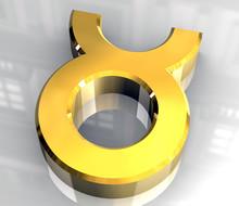 Simbolo Astrologico Del Toro In Oro 2