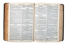 An Old Bible, Published In 1942, Opened At Psalm 1