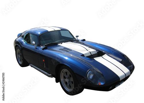 Photo  blue sportscar