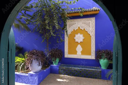 Tuinposter Marokko giardino majorelle in stile arabo