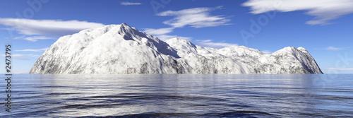 Printed kitchen splashbacks Glaciers snow island