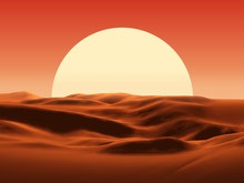 Sunset In Desert