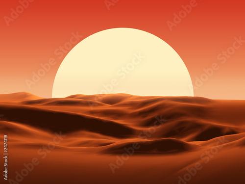 Montage in der Fensternische Rot kubanischen sunset in desert