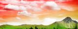 piękna góra w zachodzie słońca - 2475115
