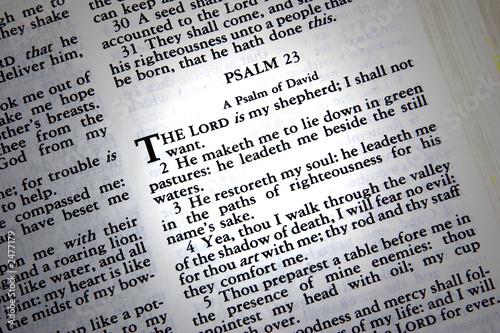 Fotografie, Obraz  psalm 23
