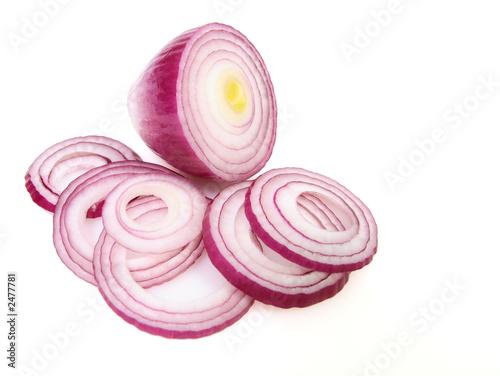 Fotografía  sliced red onion