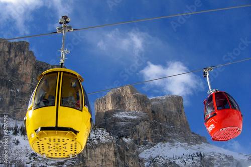Fotografie, Obraz  ski lift