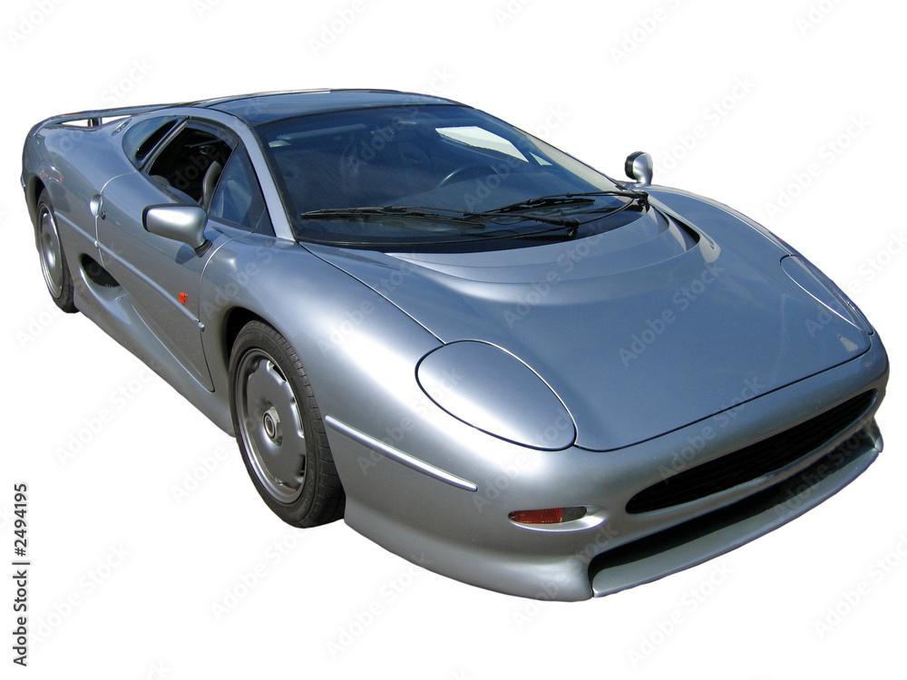 Foto-Doppelrollo - silver sportscar
