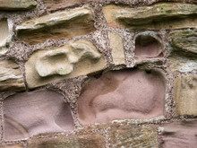 Close Up Wall Tynemouth Priory